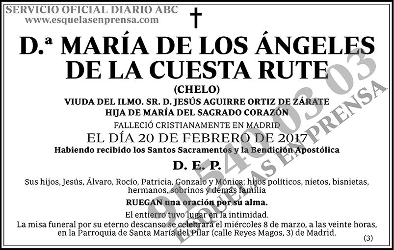 María de los Ángeles de la Cuesta Rute